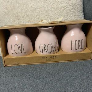Set of 3 Rae Dunn bud vases